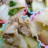 豚こまと大根と白菜の甘辛炒め
