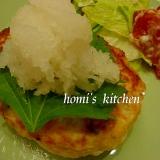 豆腐と鶏ミンチのヘルシーハンバーグ