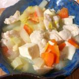 鶏むね肉と野菜の塩鍋