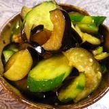 茄子ときゅうりの即席酢醤油生姜漬け