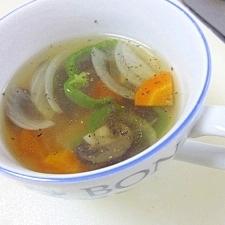 マッシュルームの野菜スープ