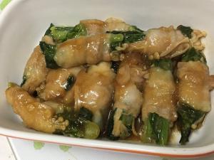 小松菜とえのきで豚バラの肉巻き