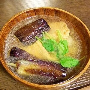 揚げ茄子と厚揚げのお味噌汁