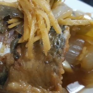 揚げ鯖の生姜煮