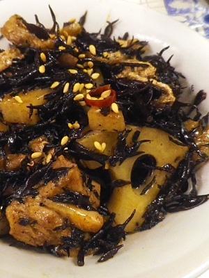 鶏ひじき蓮根の煮物