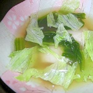 レタスの和風スープ