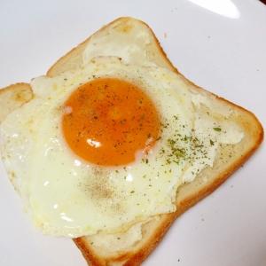 朝食に☆クリームチーズエッグトースト