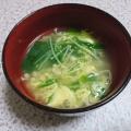 簡単~えのきと水菜の中華卵スープ★