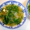 玉ねぎとほうれん草のスープ