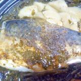 鯖とワカメごぼうの柚子胡椒煮