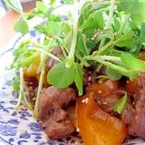 ステーキ野菜牡蠣油サラダ