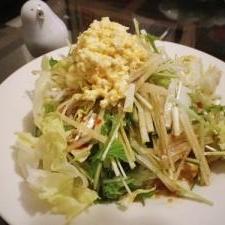 大根と水菜のタママヨサラダ