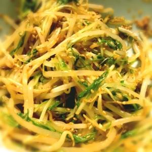 もやしと水菜のピリ辛ナムル