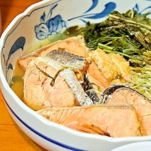 白だしde鮭と水菜のからだがあったまる一品☆