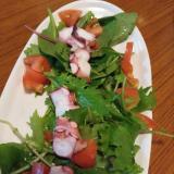 タコのカルパッチョサラダ仕立て。