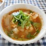 タラとジャガイモのキムチスープ