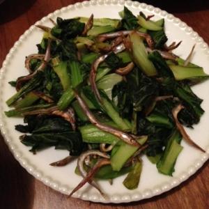 妊婦食☆小松菜と小女子の炒め物