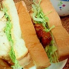 オーロラソースで食す☆絶品ジューシーチキンサンド☆