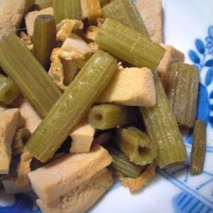 ふきと高野豆腐と油揚げの炒め煮