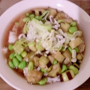 ナスと枝豆のあんかけ丼