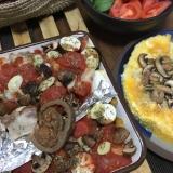たっぷり野菜と塩漬け豚のオープン焼き
