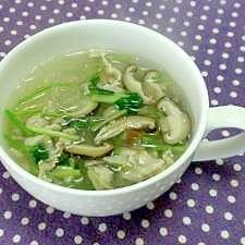 春雨の中華スープ