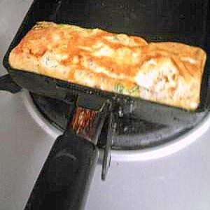 余った納豆のタレで卵焼き!
