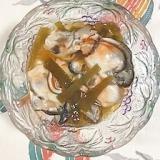 牡蠣、茎わかめの酢の物