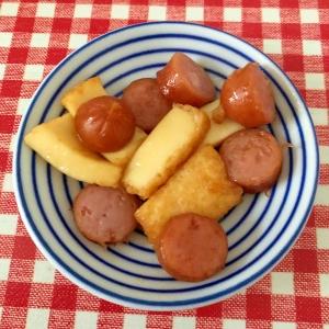 ウインナーと厚揚げの麺つゆ炒め★