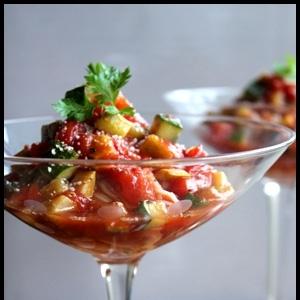 簡単♪さっぱり夏野菜の冷製トマトそうめん