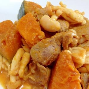 煮物の残りで☆豚肉とかぼちゃの味噌炒め