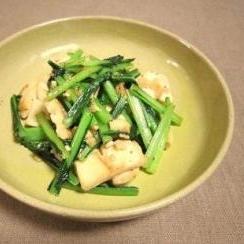 エリンギと小松菜のガーリックバターソテー
