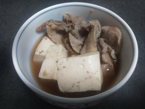 豚コマ肉豆腐