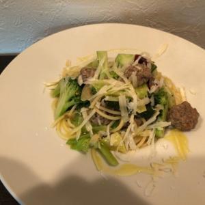 自家製サルシッチャといろいろ野菜のスパゲティ