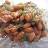 納豆のたれで味付け☆切り昆布と鰹節の納豆和え