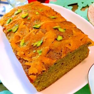 伊予柑ママレードの抹茶パウンドケーキ