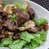 ★牛しぐれ煮をリメイク!簡単!牛肉と卵のサラダ★