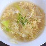 簡単!白菜ともやしの中華たまごスープ★