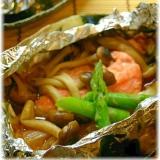 鮭のバタポンホイル焼き