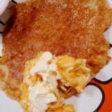 卵不使用で大豆粉入りチーズエッグパンケーキ