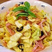 白菜とハムのハニーマスタードサラダ