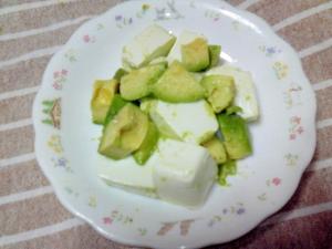 塩で食べる☆えだまめ豆腐とアボカドのサラダ