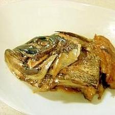 フライパンで♪鯛のあら炊き