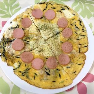 栄養抜群!ひじきとソーセージのピザ風卵焼き♪