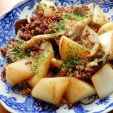 焼肉のタレ❤大根と合い挽き肉の炒め物♪(ニンニク)