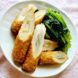 小松菜とごぼう天の煮浸し