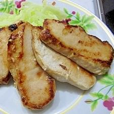 鶏ムネ肉のめんつゆマヨ焼き