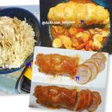 【ご飯】味ぽんで鶏マヨチャーシュー丼