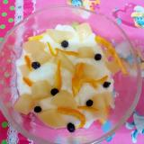 白桃缶詰とヨーグルト