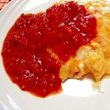 卵を焼くだけ、簡単オムライス&炊き込みトマトライス